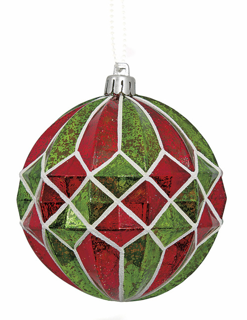 4 Inch Mercury Pattern Ball Ornament
