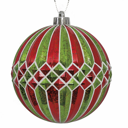 6 Inch Mercury Pattern Ball Ornament