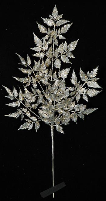 23 Inch Glittered Leaf Spray