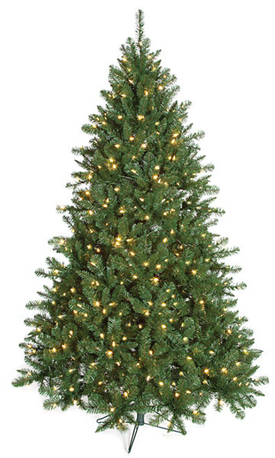 Full Size Mixed PVC Monroe Pine Trees - 7.5 ft. to 12 ft. Tall