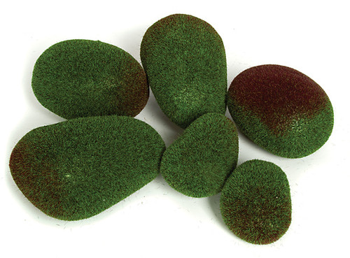 Large Green Moss Rocks (6 pcs per bag)