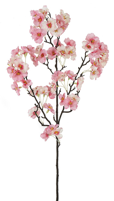 35 Inch Cherry Blossom Branch - Rose/Cream  (Sold Per Piece)
