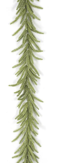 6 Foot Glittered Tudor Pine Garland