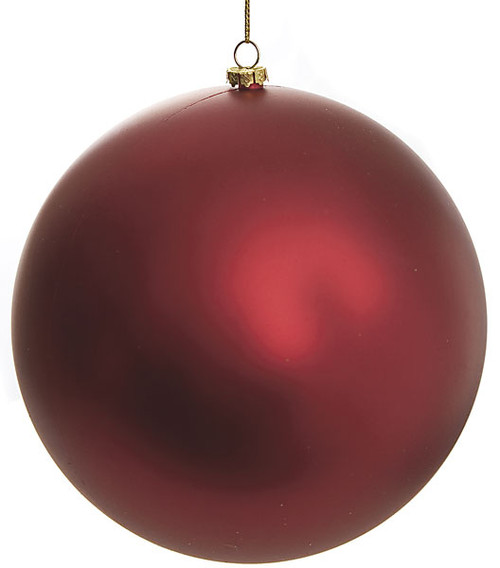 Red Matte Ball Ornaments - Sizes 4 Inch, 6 Inch, and 8 Inches