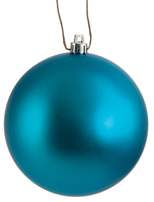 Dark Blue Matte Ball Ornaments in 4 Inch and 6 Inch Sizes