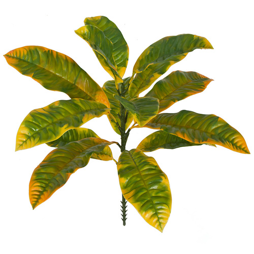 20 Inch Polyblend Outdoor UV Green & Yellow Croton Plant