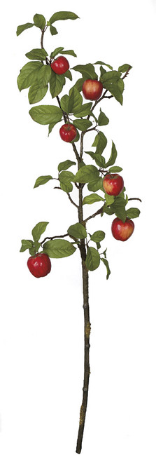 43 Inch Natural-Like Red Apple Branch