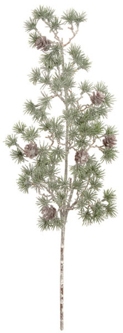 18 Inch Plastic Glittered Pine Spray Pine Cones 