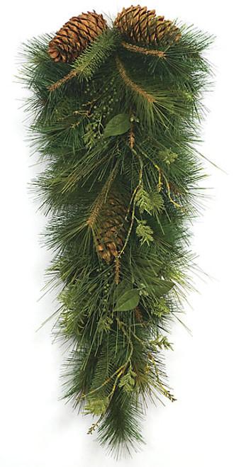 36 Inch Mixed Sugar Pine Teardrop wtih Pine Cones