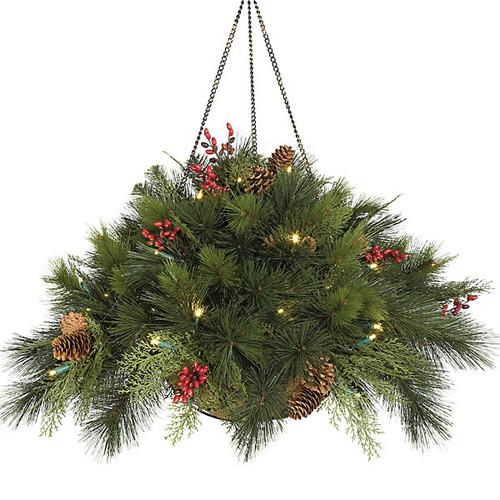 15 Inch Hanging Pine Basket