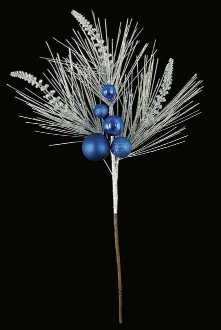 "C-16051018"" PVC Pine Ball SpraySilver/Blue"