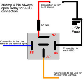 reverse camera won t display when engine starts audio tech direct rh audiotechdirect com Security Camera Wiring Diagram 3 Wire Koolertron Backup Camera Installation Diagram