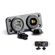 Dual USB Car Cigarette Lighter Socket Splitter & Charger