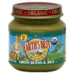 Earth's Best Baby Foods Baby Green Bn/Rice (12x4OZ )