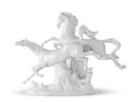 LLADRO HORSES GALLOPING (WHITE) (01008682 / 8682)