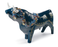 LLADRO FLOWER-BEDECKED BULL (COLOR) (01007297 / 7297)