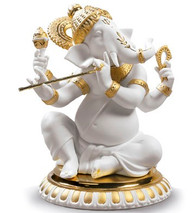 Lladro BANSURI GANESHA (GOLDEN RE-DECO) 01009277 / 9277