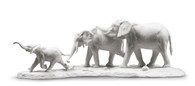 We Follow in Your Steps Elephants Sculpture. White 01009295 / 9295 (3785901009295)