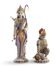 LLADRO LAKSHMAN AND HANUMAN (01001972 / 1972)