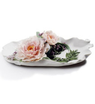 LLADRO TRAY WITH PEONIES (01008650 / 8650)