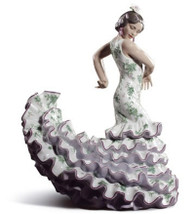 LLADRO FLAMENCO FLAIR (GREEN / PURPLE) (01008766 / 8766)