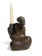 LLADRO WOMAN W.JAR CANDLEHOLDER PULSE OF AFRICA (01012500 / 12500)