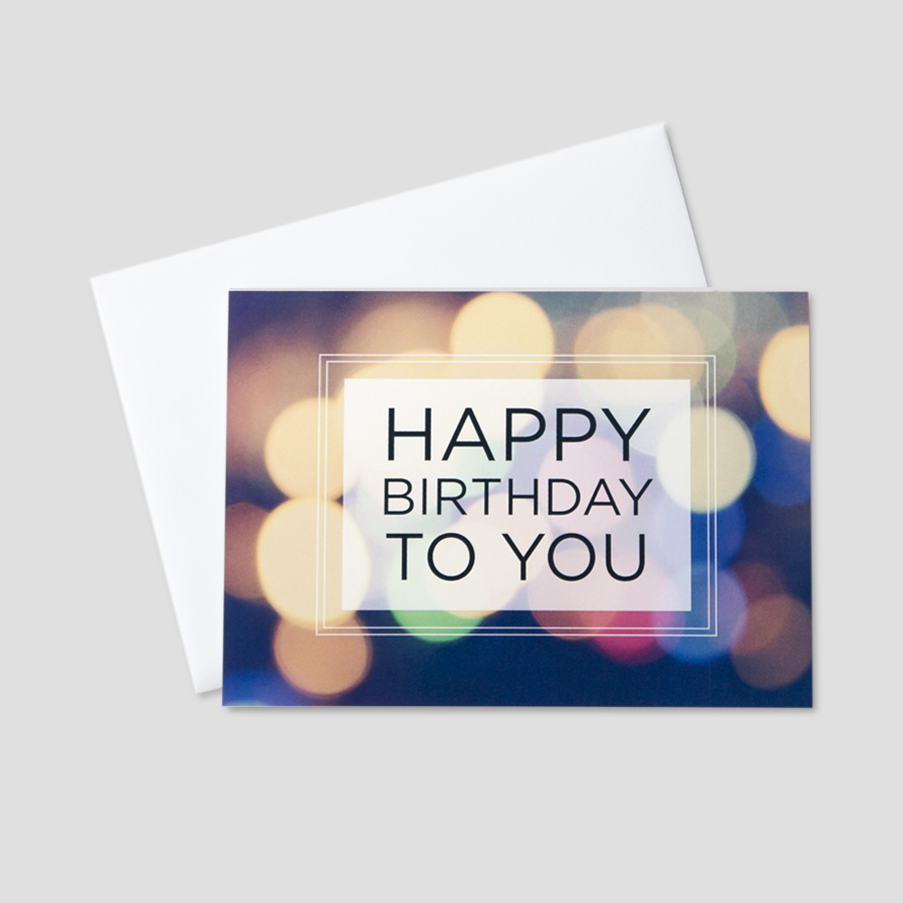 Customizable company birthday greeting cards more ceo cards business birthday greeting card featuring a happy birthday message on a multi colored light background magicingreecefo Choice Image