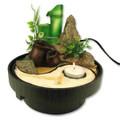 Ying Yang Table Water Fountain w/ Bamboo