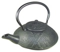Black Bamboo Pine Plum Cast Iron Teapot 21oz