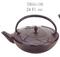 Black Crane Cast Iron Teapot 24oz