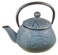 Blue Bamboo Cast Iron Teapot 24oz