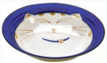 Smiling Blue Cat Porcelain Shallow Bowl 8-1/2in