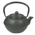 Black Hobnail Cast Iron Teapot 38oz