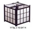 Black Wooden Shoji Tatami Ceiling Lamp