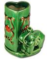 Heart Shaped Bamboo Vase Pot w/Elephant