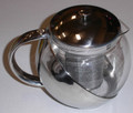 Stainless Steel Glass Teapot