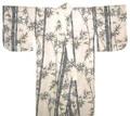 Japanese Men's Yukata Robe w/Bamboo & Bird