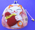 Maneki Neko Lucky Cat Coin Purse #22408-3