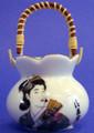 Porcelain Geisha Toothpick Holder C