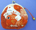 Maneki Neko Lucky Cat Coin Purse #22408-1