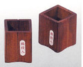 Square Japanese Wooden Toothpick Stand