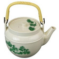 Plastic Melamine Teapot Beige 54oz