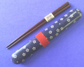 Japanese Travel Chopsticks w/Case Sakura Blue