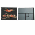 Bento Box 5 Compartments Fixed 10.5x8.25in w/ Lid