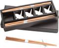 Bamboo Chopsticks w/ White Porcelain Crane Chopsticks Rests Set #1059
