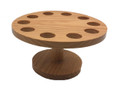 Wooden Cone and Temaki Stand Sushi Hand Roll Display Holder 10 Holes