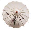 White Transparent Chinese Parasol 22in
