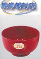 Plastic Lacquer Rice Bowl Red