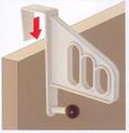 Plastic Overdoor Hook Cloth Hanger #1624