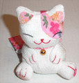Bean Bag Lucky Cat White